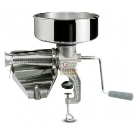 REBER MANUAL TOMATO MACHINE N. 3 STAINLESS STEEL FUNNEL AND DRAINER