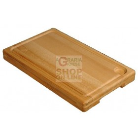 REBER NATURAL BEECH CUTTER WITH SLOTS FOR LIQUID DRAIN CM.