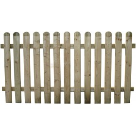 SUNFLOWER WOODEN FENCE WITH BARRIER CM.180X100