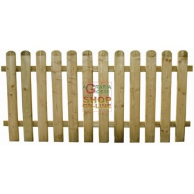 SUNFLOWER WOODEN FENCE WITH BARRIER CM.180X80H