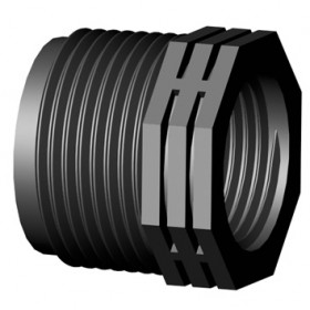 BLACK THREADED REDUCTION M / F 1 1/2