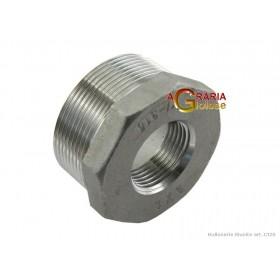 RIDUZIONE IN ACCIAIO INOX AISI 316 M/F 1 POLL. 3/4 POLL.