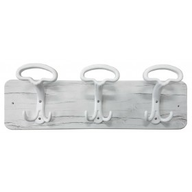 CLOTHES HANGER WHITE LADY SHABBY CHIC 3 PLACES CM. 50x16