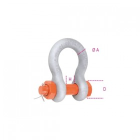 Robur Lyre lifting shackles with nut and split pin steel