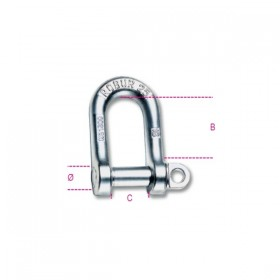 Robur Straight shackles for lifting wide type galvanized carbon