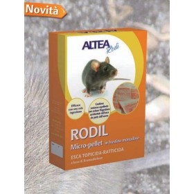 RODIL MICRO-PELLETED TOPICIDE-RACTICIDE BAIT, IN SINGLE-DOSE
