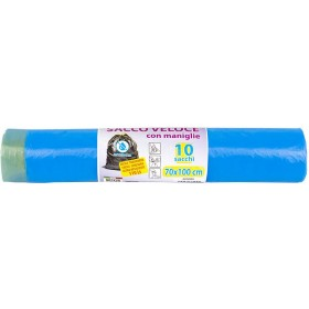 BAG ROLL FOR SEPARATE WASTE COLLECTION HD BLUE NEC CM. 70x110 PCS. 10
