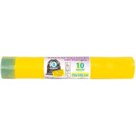 BAG ROLL FOR SEPARATE COLLECTION HD YELLOW NEC CM. 70x110 PCS. 10