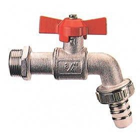 BALL VALVE WITH 1/2 BUTTERFLY HOSE PORT