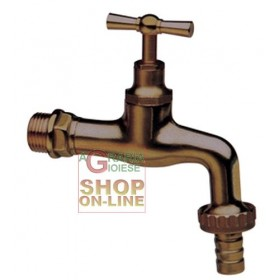 TAP IN ANTIQUE BRASS WITH HOSE HOSE 1/2 IN.
