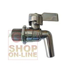 STAINLESS STEEL TAP FOR 3/4 LEVER CONTAINER
