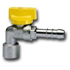 SQUARE BALL TAP FOR METHANE LPG GAS UNI 7140 FEMALE HOSE HOLDER DIAM 1 / 2F x 13 mm.