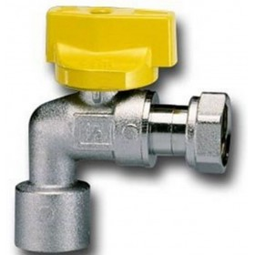 SQUARE GAS BALL TAP FOR WATER HEATER WITH FEMALE / FEMALE