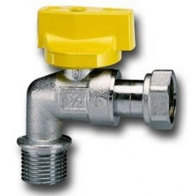 SQUARE GAS BALL TAP FOR WATER HEATER WITH MALE / FEMALE HANDLE