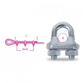 Robur Morsetto in acciaio zincato (3/8) mm. 10