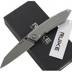 RUIKE RKE P128-SF FOLDING KNIFE WITH GRAY HANDLE CM. 21.7