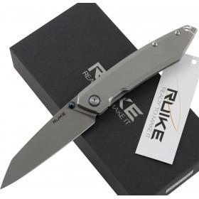 RUIKE RKE P128-SF FOLDING KNIFE WITH GRAY HANDLE CM. 21.7