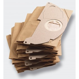 PAPER FILTER BAGS PCS 5 FOR KARCHER VACUUM CLEANER MOD. MV2