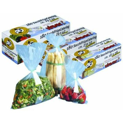 REFRIGERATED BAGS CATERING ROLL 180 PCS CM. 23 X 32