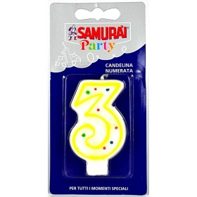 SAMURAI PARTY COMPONIBLE CANDLE N.3