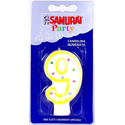 SAMURAI PARTY CANDELA COMPONIBILE N.9