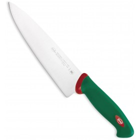 SANELLI PREMANA BUTCHER KNIFE CARVING GREEN AND RED HANDLE CM. 21