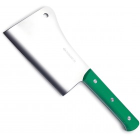 SANELLI PREMANA CLAVER STAINLESS STEEL HANDLE GREEN PLASTIC KG. 1.6 CM. 25
