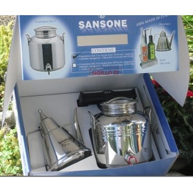 SAMSON GIFT BOX IN STAINLESS STEEL. LT. 3 MORE LUX OIL BOX