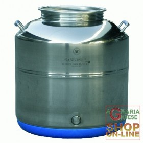 SANSONE STAINLESS STEEL CONTAINER LT. 50 LOW MOD. WELDED EUROPE