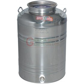 SANSONE STAINLESS STEEL CONTAINER LT. 50 WITH PREDISPOSITION OF THE TAP