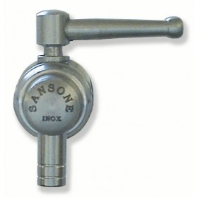 SANSONE STAINLESS STEEL TAP FOR CONTAINER 1 IN. LEVER