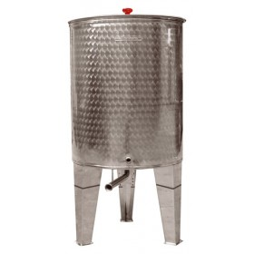 SANSONE SILOS STAINLESS STEEL CONTAINER FOR WINE, OIL AND HONEY, CONICAL BOTTOM LT. 300