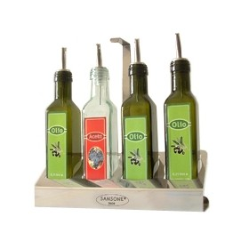 SANSONE STAND 4 PLACES GLASS BOTTLES CL. 25