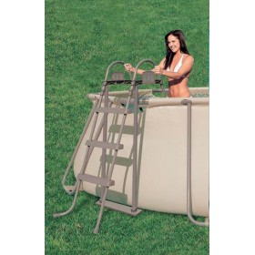 DOUBLE LADDER ASCENT BROWN CM.107 FOR SWIMMING POOLS