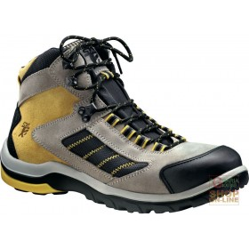 HIGH SHOE IN SPLIT TOE AND LAMINA TRIPLE DENSITY POLYURETHANE SOLE COLOR YELLOW GRAY