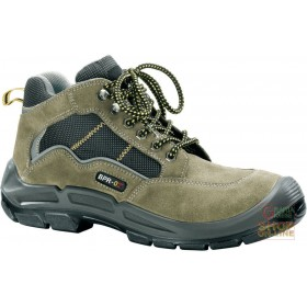 HIGH SHOE IN SPLIT TREKKING TYPE SYNTHETIC MATERIAL INSERTS TOE AND MIDSOLE
