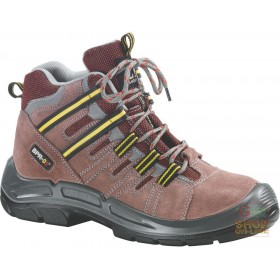 HIGH SHOE IN SPLIT TREKKING TYPE SYNTHETIC MATERIAL INSERTS TOE AND FOOT