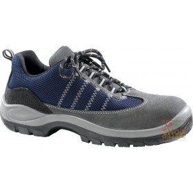 LOW SHOE GRAY SPLIT SYNTHETIC FABRIC BLUE TOE AND MOLDS SOLE IN DUAL DENSITY POLYURETHANE SIZE 38 47