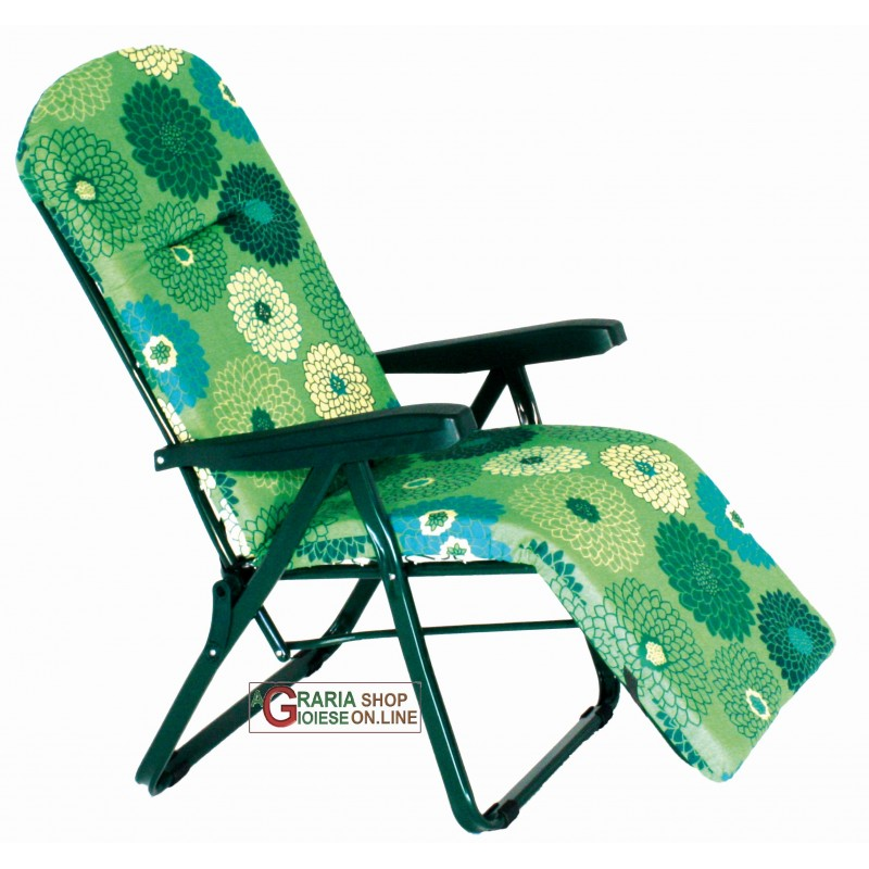 Sedia a sdraio con poggiapiedi 6 posizioni mdello amalfi r for Sedia a dondolo con poggiapiedi