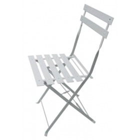 FOLDING CHAIR WHITE WITH LISTERELS CM. 41X46X80