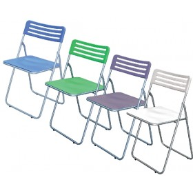 FOLDING CHAIR IN WHITE ABS
