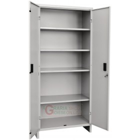 Prometal metal wardrobe with shelves with two doors cm. 80x40x175h.
