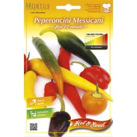 MEXICAN SPICY CHILI SEEDS MIX 10 VARIETIES