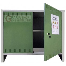 METAL CABINET FOR PHYTO-DRUGS 2 DOORS CM. 100x40x80h.