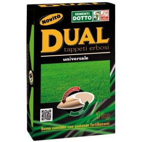 LAWN SEEDS SELECTED LAWN GRASS DUAL DRESSED SEED KG. 1