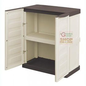 LOW RESIN WARDROBE 2 DOORS 1 SHELF cm. 70x39x85h.