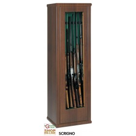 CABINET FOR GUNS CASE 2 WITH TREASURE H.150 cm. 7 GLASS PLACES