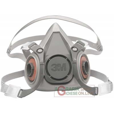 SEMI ANTIGAS MASK 3M ART. 6300 CE WITHOUT FILTER WITH HYPOALLERGENIC MUSETTO