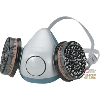 HALF MASK IN COMPOSITE PLASTIC MATERIAL WITH DOUBLE FILTER