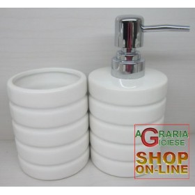 SERIES TOOTHBRUSH AND SOAP HOLDER FOR BATHROOM IN CERAMIC TWO